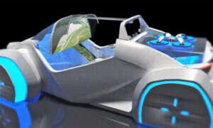 Drukowany samochód z dronem