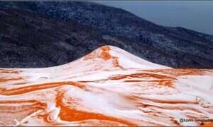 Sahara pokryta śniegiem wygląda jak zupełnie inna planeta