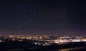 Intel ułożył drony w kształt flagi w czasie Super Bowl show