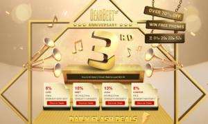 Promocyjne kupony z okazji 3 urodzin GearBest!
