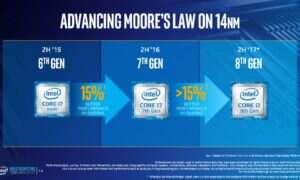 Intel zapowiada 30% wzrost wydajności w 8 generacji procesorów