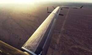 Gigantyczny dron firmy Facebook sukcesem kończy swój drugi lot