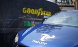 Goodyear zamontuje czujniki w oponach aut floty Tesloop
