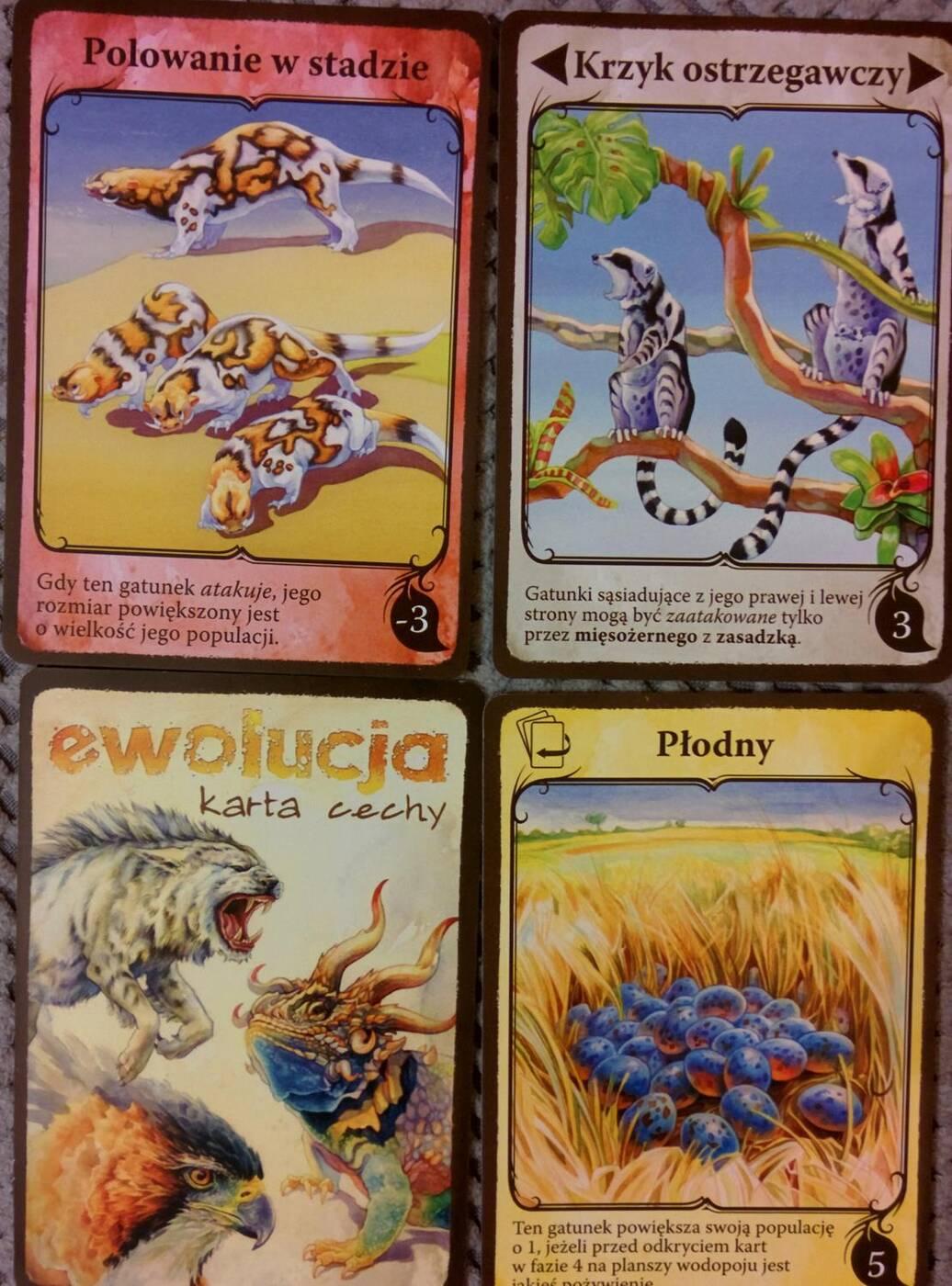 Ewolucja karty cech 2