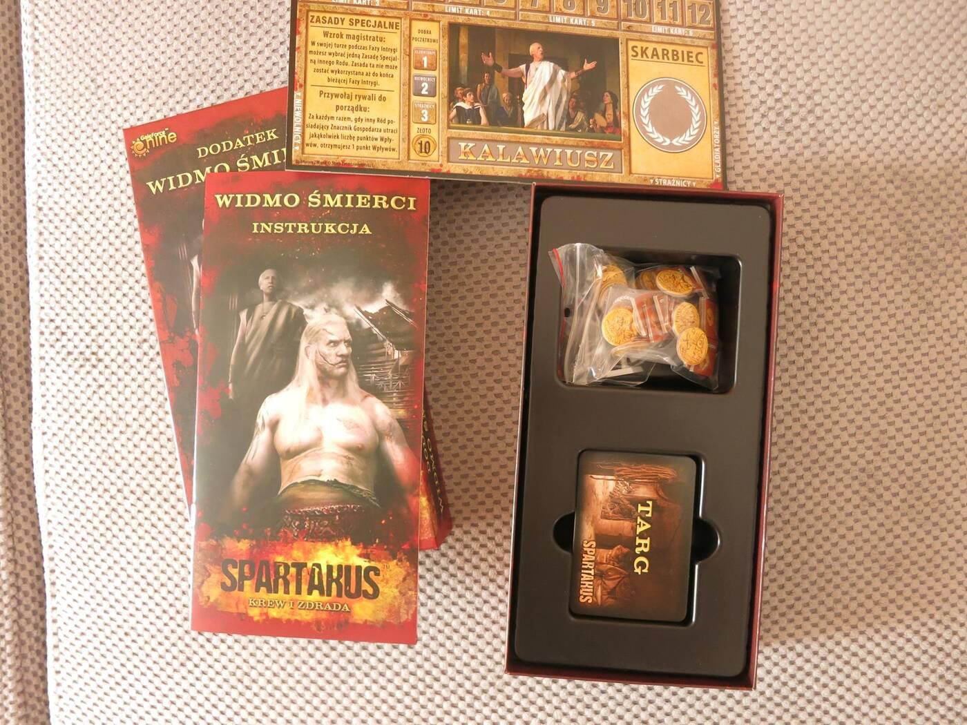 Spartakus Widmo Śmierci pudełko