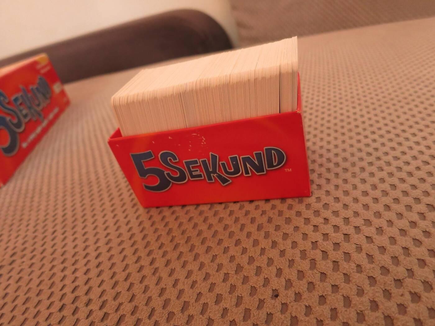 5 sekund pudło kart