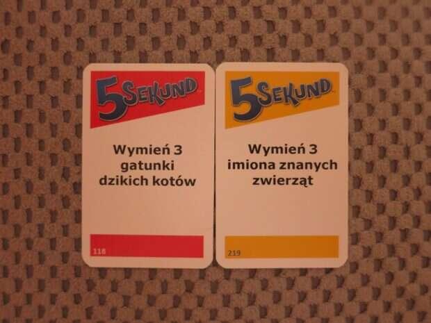5 sekund karty