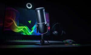 Test mikrofonu Razer Seirēn Elite i kamerki Razer Kiyo