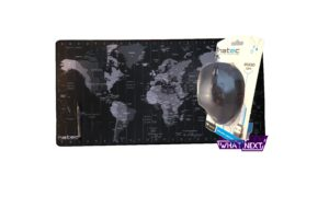 Test myszy wertykalnej Crake i podkładki Time Zone Map Maxi