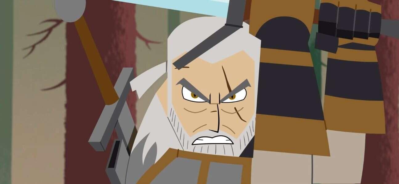animacja, Geralt, Mashed, Samuraj Jack