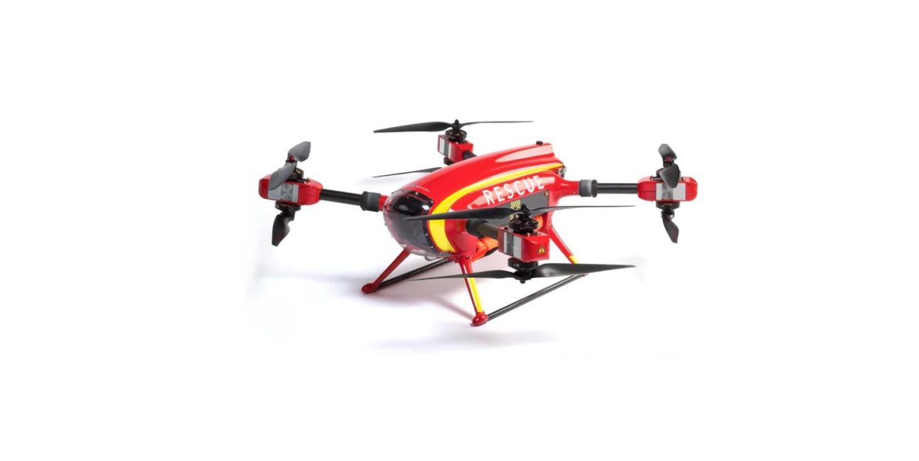Dron, Auxdron, Aux, lifeguard, ratunek, akcja ratunkowa, morze, Hiszpania, GeneralDrones