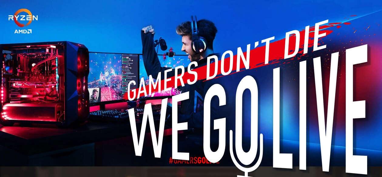 MSI, AMD, HyperX, Cooler Master, Seagate, #GamersGoLive, akcja, promocja, zestawy #GamersGoLive, zestawy, streaming, Twitch,