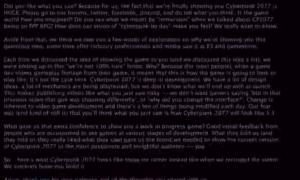 Gameplay z Cyberpunk 2077 ukrywał wiadomość dotyczącą opóźnienia publikacji dema