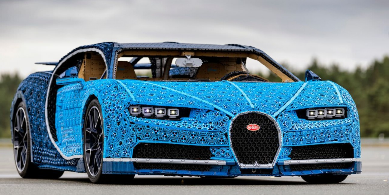 samochód, Bugatti, Chiron Lego Technic, Chiron, Lego, plastik, Technic, silnik z lego Technic, samochód,