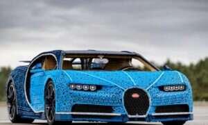 Ten model Bugatti Chiron został w całości wykonany z Lego Technic
