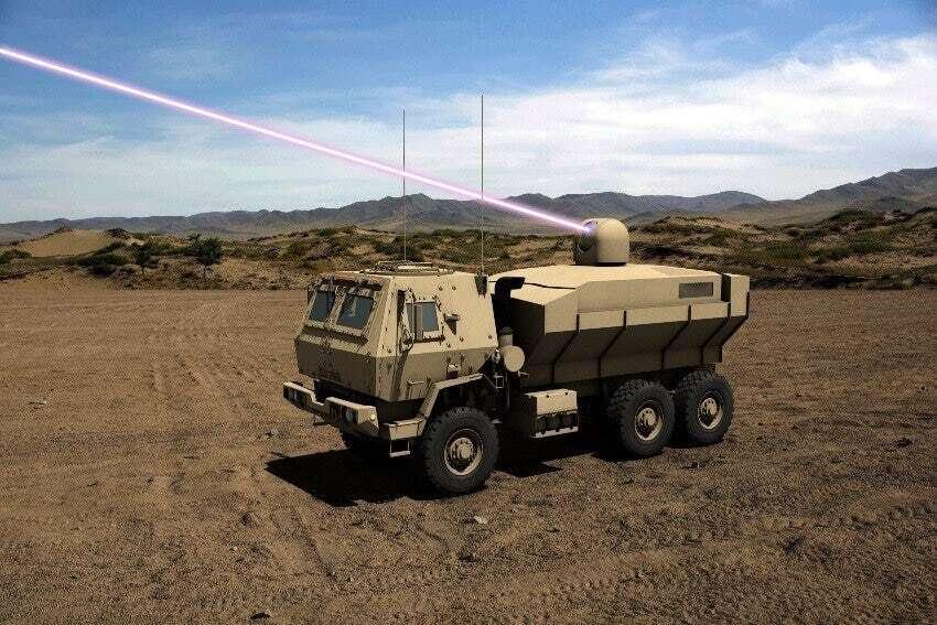 100 kW, laser, armia, USA, broń laserowa, HEL TVD, laser na pojeździe, rozwój, Lockgeed, Dynetics
