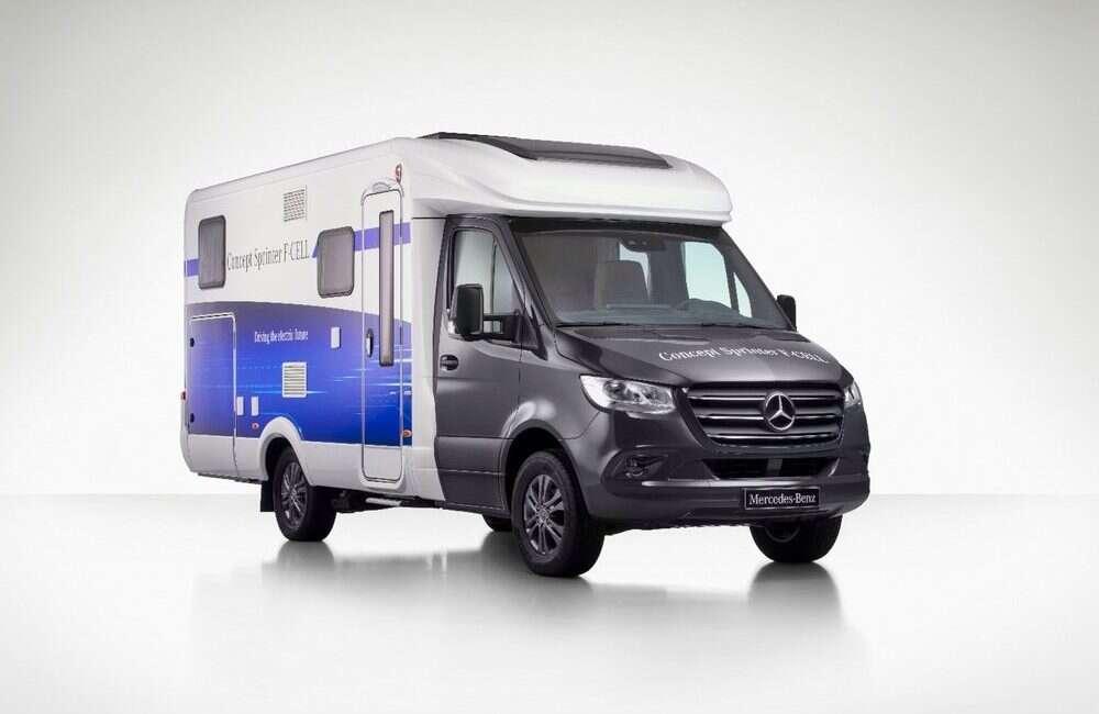 Sprinter F-Cell, Mercedes, SUV, Kamper, Sprinter F-Cell, samochód, elektryczny silnik, wodór, ogniwa wodorowe