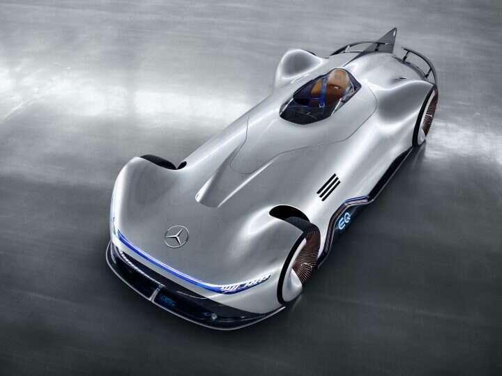 koncept, samochód, futuryzm, EQ Silver Arrow, EQ Silver, Arrow, Mercedes, Mercedes-Benz