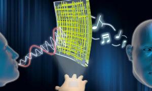 Co powiecie na elastyczny nanogłośnik, który przykleicie do ubrania?
