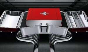 30000$ za książkę o Ferrari w replice 12-cylindrowego silnika