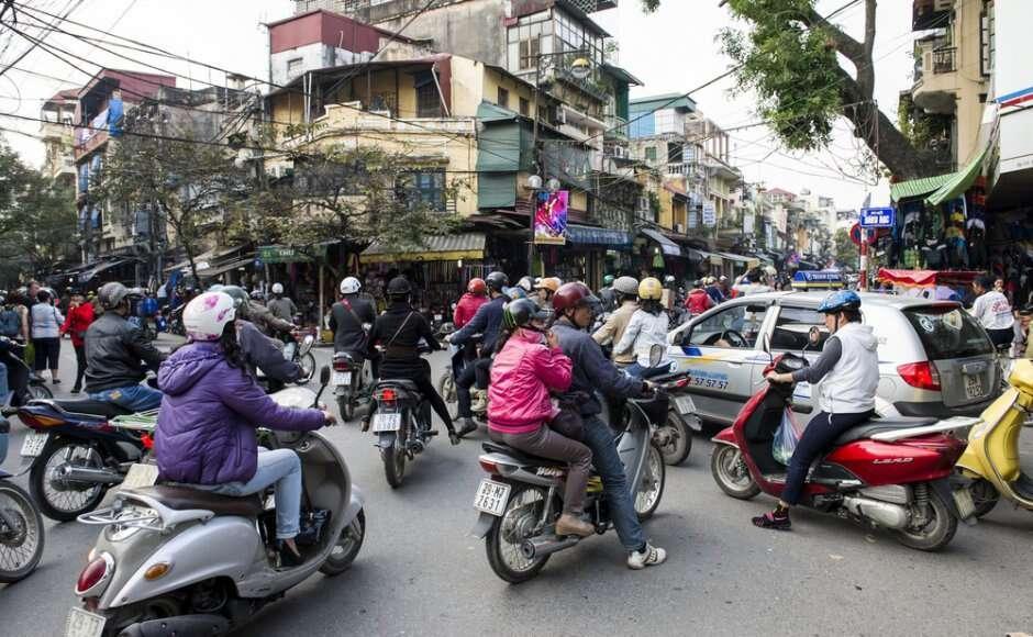 Wietnam, Hanoi, zakaz, motocykle, publiczny transport, restrykcja, stolica Wietnamu,