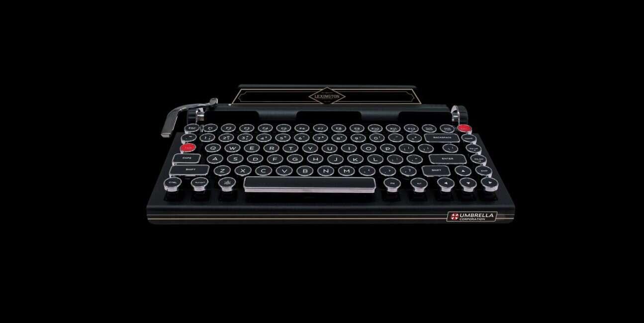 Capcom, Resident Evil, Resident evil 2 remake, klawiatura, klawiaturę, klawiatura mechaniczna, maszynopis, maszyna do pisania,