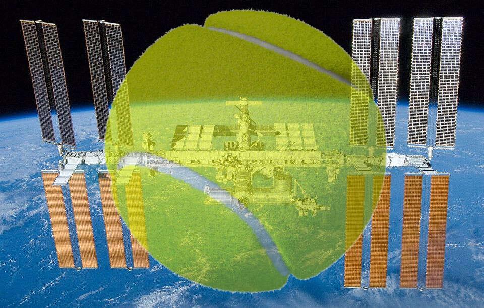 Międzynarodowej Stacji Kosmicznej, ISS, Międzynarodowa Stacja Kosmiczna, tenis, mecz w tenisa, tenis w kosmosie, NASA