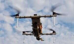 Ukraiński startup stworzył prototyp drona Demon z granatnikiem