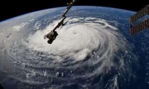 Huragan Florence wygląda niesamowicie z Międzynarodowej Stacji Kosmicznej
