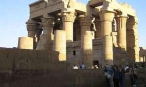 W egipskiej świątyni Kom Ombo znajduje się ukryty sfinks