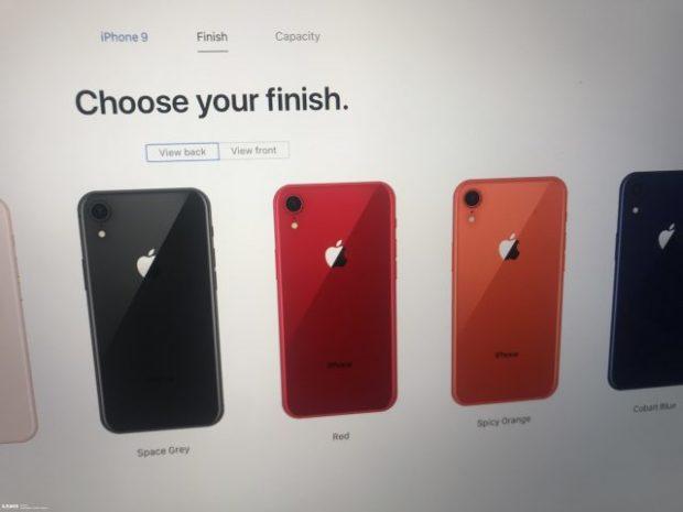 kolory iPhone Xc