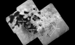 Oto zdjęcia jezior na Tytanie, jednym z księżyców Saturna