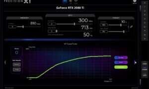 EVGA Precision X1 dla kart GeForce RTX z opcją automatycznego OC