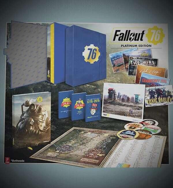 Fallout, Fallout 76 Platinium Edition , Fallout 76, edycja fallouta, Platinium Edition, zestaw bez gry, Bethesda