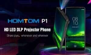 HOMTOM P1 to telefon z projektorem