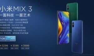 Xiaomi Mi Mix 3 wyprzedane w mniej niż minutę