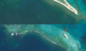 Huragan zmiótł małą wyspę z mapy