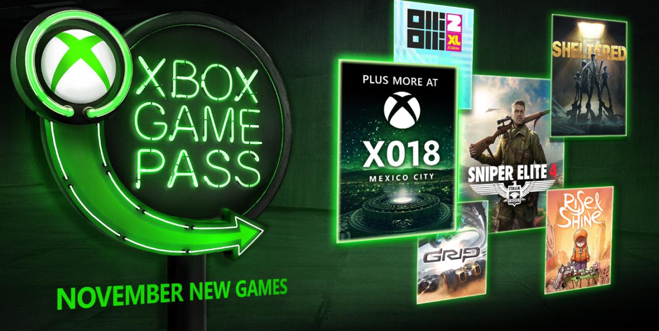 Gry w Xbox Game Pass na początek listopada