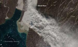 Na Grenlandii wystąpiła silna burza pyłowa