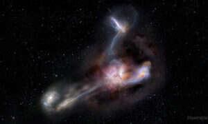 Oto odległa galaktyka która pochłania inne