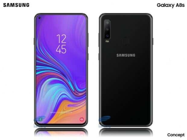 Samsung Galaxy A8S, render Samsung Galaxy A8S, wygląd Samsung Galaxy A8S, notch Samsung Galaxy A8S