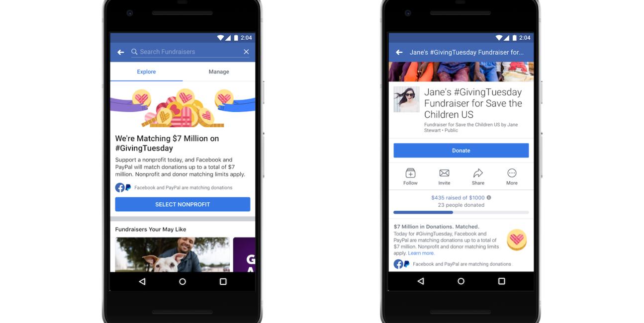 Facebook, fundraising facebook, cele charytatywne Facebook, pieniądze Facebook