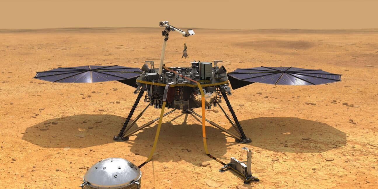 InSight, lądowanie na marsie, mars, InSight mars, InSight lądowanie, InSight zdjęcie
