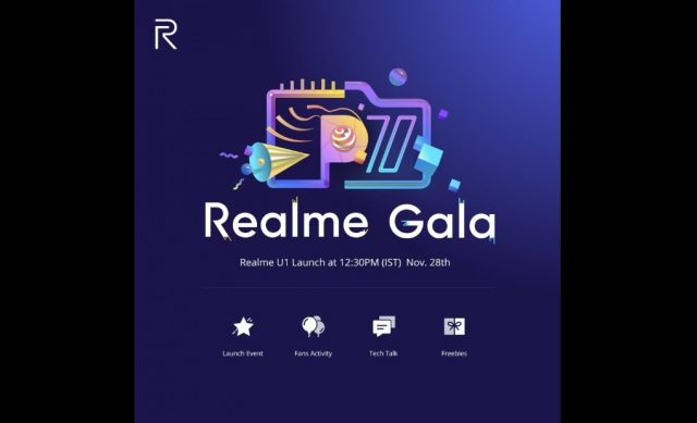 Realme U1, Realme gala, realme, premiera Realme U1, indie Realme U1, smartfon Realme U1