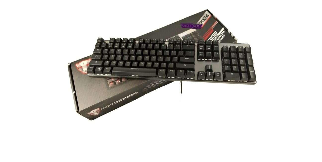 Test klawiatury mechanicznej Motospeed CK104