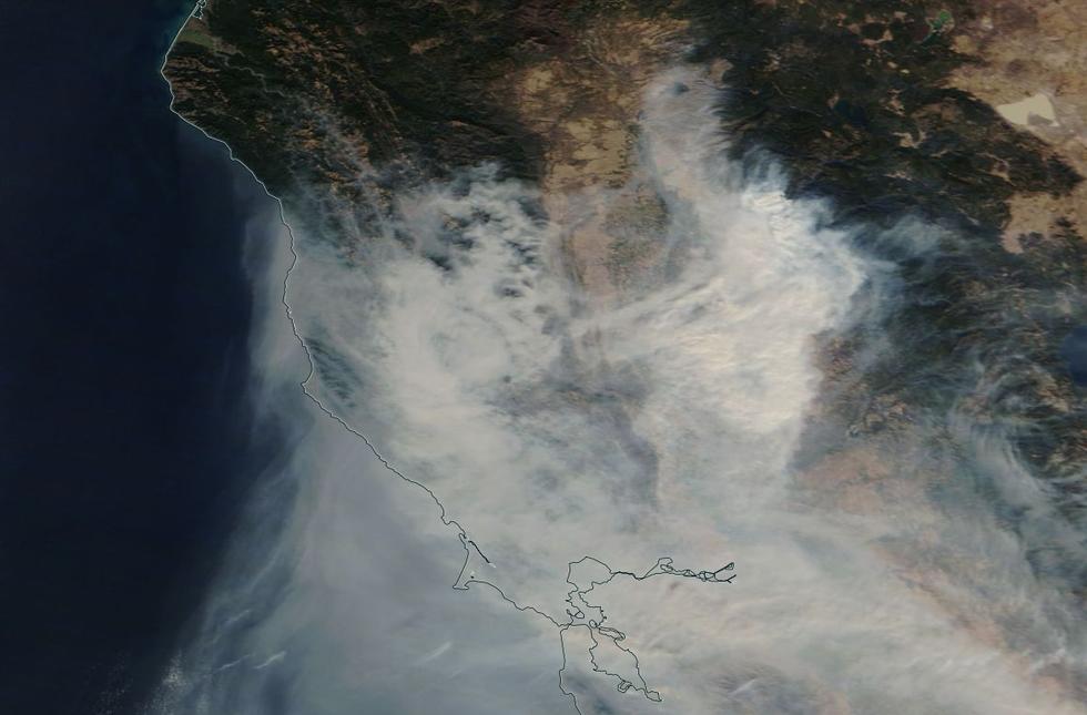 kalifornia, pożary kalifornia, zdjęcia kalifornia, zdjęcia pożarów kalifornia, nasa kalifornia,