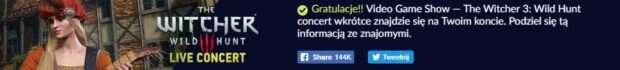 Koncert muzyki z Wiedźmina 3 za darmo od CD Projekt Red