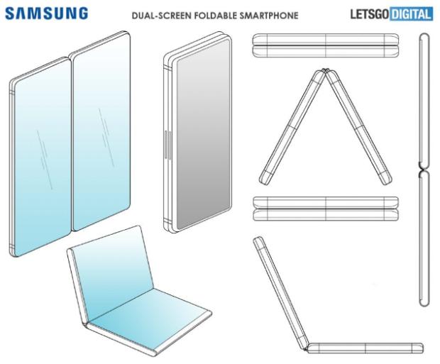 składany smartfon, składany smartfon samsung, składany smartfon patent, patent samsung