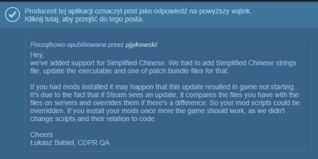 Aktualizacja do Wiedźmina 3 na PC po miesiącach ciszy