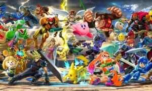 Bohaterowie Super Smash Bros Ultimate na ogromnej ilustracji